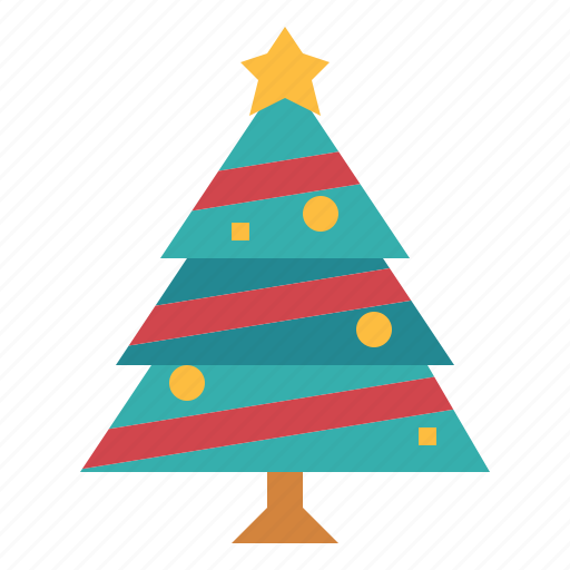 christmas, tree, wood icon