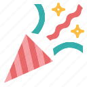 birthday, confetti, happy, party icon