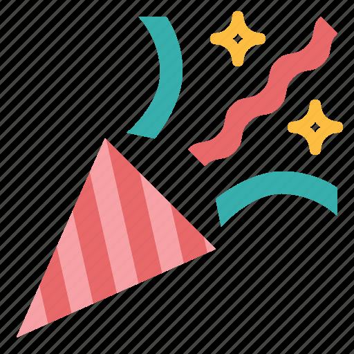 birthday, confetti, happy, party icon