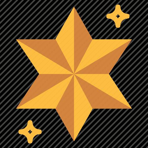 christmas, decoration, star, tree icon