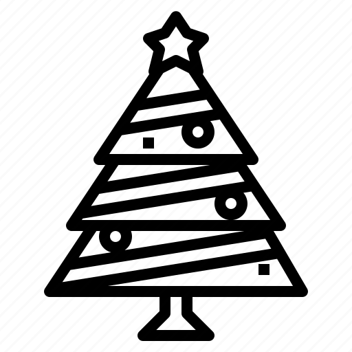 christmas, tree, wood icon