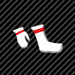 christmas, gift, gloves, glovesandsocks, socks, xmas icon