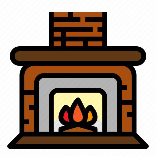 fire, fireplace, furniture, households icon