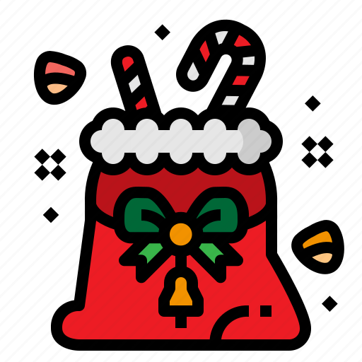 Bag, candy, christmas, gift icon - Download on Iconfinder
