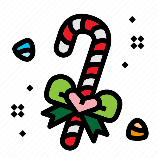 candy, candycane, cane, christmas icon