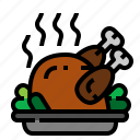 chicken, christmas, turkey, xmas icon