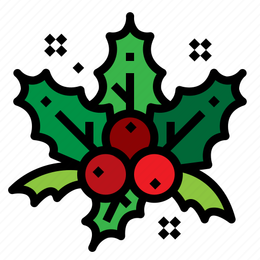 Christmas, decorations, holly, mistletoe icon - Download on Iconfinder