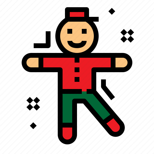 christmas, cookie, gingerbread, treats icon
