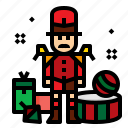 christmas, drum, soldier, toy