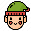 assistant, avatar, christmas, elf, fantasy, santa icon