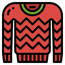 clothes, clothing, garment, sweater, winter icon