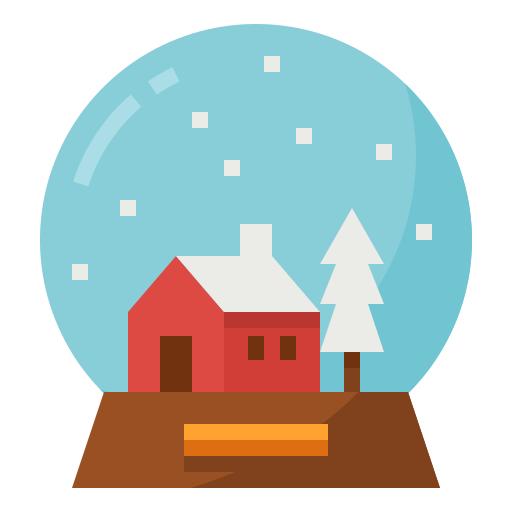 christmas, decorative, globe, ornament, snow icon