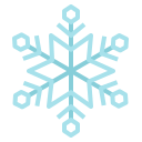 christmas, cold, ice, snowflake, winter icon