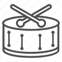 christmas, drum, snare icon