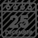 calendar, celebration, christmas, december icon