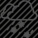 cloud, ice, snow, snow falling, snowflake icon