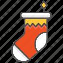 christmas, sock, socks, stocking icon
