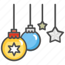 christmas, christmas lights, decoration, lights icon
