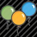 balloons, celebrate, party icon