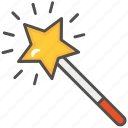 fairy, magic, magic stick, magic wand, wand icon