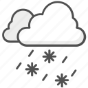 cloud, ice, snow, snow falling icon