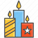 burning, candles, wax icon