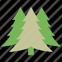 generic trees, pine trees, shrub, trees icon