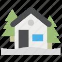 christmas, house, winter icon