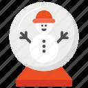 christmas, glass, globe, snow icon