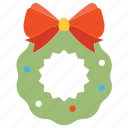 christmas, garland, wreath icon
