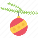 ball, branch, christmas, holiday, new, winter, year icon