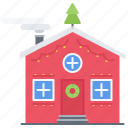 christmas, decoration, holiday, house, new, winter, year icon
