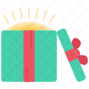 box, christmas, gift, light, new, winter, year icon