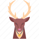 bell, christmas, deer, new, winter, year icon