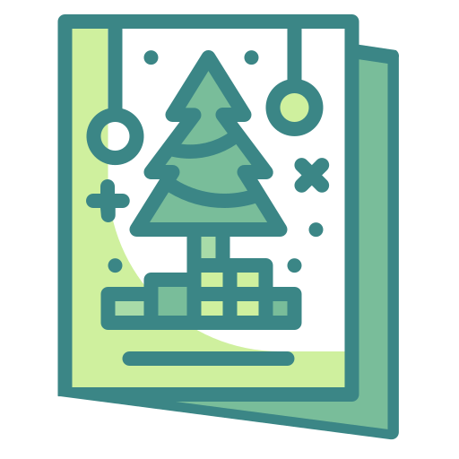 Card, christmas, greeting, letter, postcard, tree icon - Free download