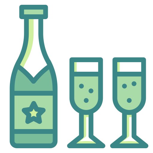 alcohol, bottle, celebration, champagne, drinks, party, restaurant icon