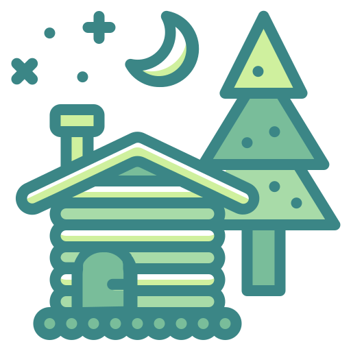 building, cabin, christmas, estate, home, house, property icon