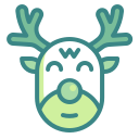 reindeer, animal, mammal, deer, xmas, christmas, winter icon
