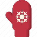 christmas, cold, glove, mitten, snowflake, winter, xmas icon