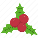 christmas, decoration, holly, leaf, mistletoe, wreath, xmas icon