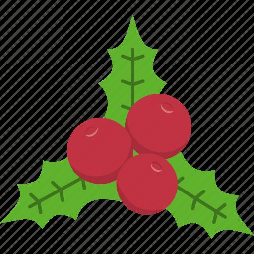 christmas, decoration, holly, leaf, mistletoe, wreath, xmas icon