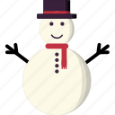 snowman, christmas, winter, snow, xmas