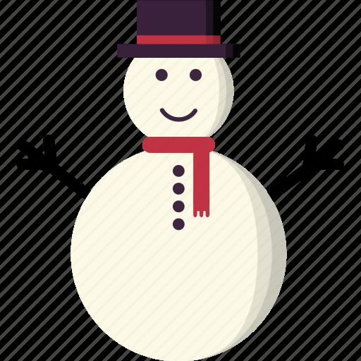Snowman, christmas, winter, snow, xmas icon
