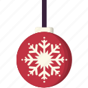 ball, christmas, decoration, light, snowflake, xmas icon