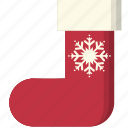 christmas, snowflake, sock, socks, winter, winterwear, xmas icon