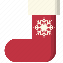christmas, snowflake, sock, socks, winter, winterwear, xmas icon