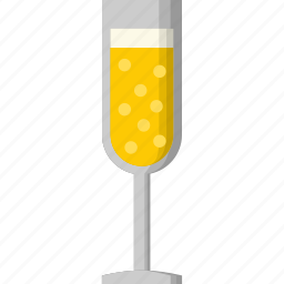 alcohol, beverage, celebration, champagne, drink, glass, party icon