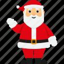 character, christmas, cute, greeting, santa, santa claus, xmas icon