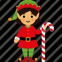 character, christmas, cute, elf, girl, kid, xmas