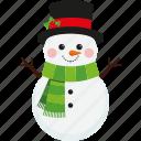 character, christmas, cute, hat, scarf, snowman, xmas